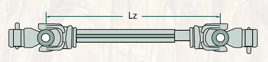 Kardanová hřídel s citronovým profilem Blueline La Magdalena schéma