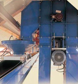 mechanický transport obilí