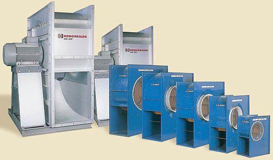 Nízkotlaké ventilátory Kongskilde HVL