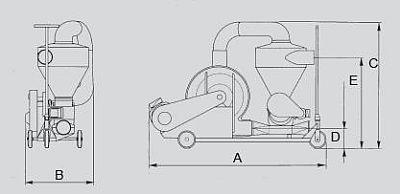 Pneumatický nasávací dopravník obilí SUC-E