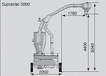 Pneumatický nasávací dopravník obilí SupraVac 2000