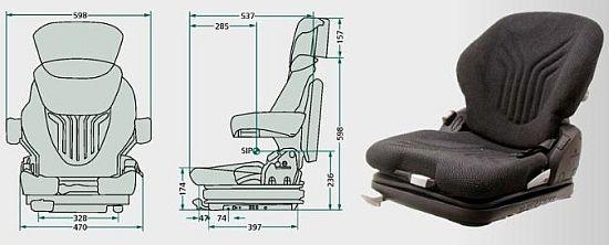 Sedačky Grammer pro manipulační techniku a vysokozdvižné vozíky