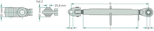 Třetí bod s tvrzeným kulovým kloubem schéma